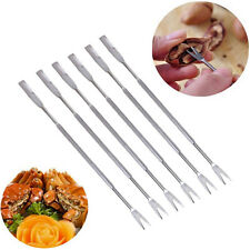 Stainless Steel Seafood Crab Lobster Fork Set 4Pc Pickle Olive Cherry Jar