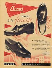 PUBLICITE ADVERTISING 114 1956 CLERGET chaussures pour homme