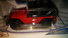 2014 JEEP WRANGLER WILLYS RED 1:18 DIECAST MODEL CAR BY MAISTO