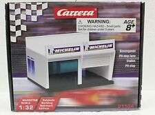 CARRERA 21104 PIT STOP LANE DOUBLE GARAGE NEW 1/24 1/32 SLOT CAR ACCESSORY