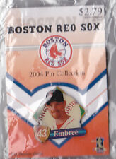 BOSTON RED SOX 2004 WORLD SERIES WINNER GLOBE PROMO PIN SERIES ALAN EMBREE