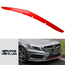 Painted Red Metal Front Lip Spoiler Cover Mercedes BENZ A-Class W176 5D 2015