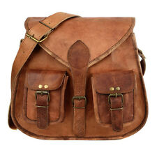 Fair Trade Handmade Brown Leather Satchel Style Saddle Bag - 2nd Quality