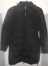 Andrew Marc New DOWN Long Stadium Winter Parka Coat Quilted Puffer Black L