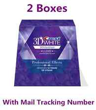 Crest 3D White Luxe Whitestrips Professional Effects 40strips 20 Pouch x 2 Boxes