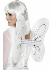 White Silver Angel Wings Fairy Glitter 50 x 30cm Adults Fancy Dress Accessory