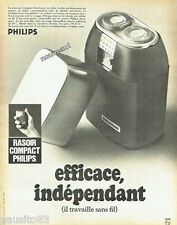 PUBLICITE ADVERTISING 096  1969   Philips  rasoir compact Philishave