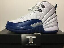 Nike air jordan 12 retro bg ~ french blue ~ 153265 113 ~ taille uk 5.5