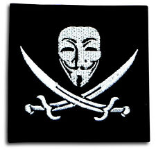 Vendetta Anonymous Guy Fawkes Mask Embroidered Patch Iron on Harley Biker Punk
