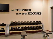 Gym Wall Decal Be Stronger Fitness Motivational Vinyl Sticker Decor Mural 111fit