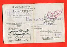 MILITARY-World War 2/WW2- Italian prisoner - STALAG VI A, HEMER (187-d53)