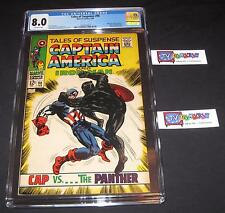 Tales of Suspense #98 CGC 8.0 from 1968 | Battle Cover! | Cap vs Black Panther!