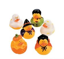 6 ASSORTED COSTUME RUBBER DUCKS DUCKYS  GHOST VAMPIRE WITCH PUMPKIN