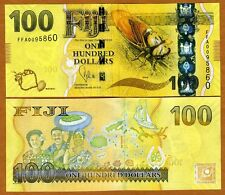 FIJI, 100 dollars, 2012 (2013), P-New,  UNC   New Design, latest colorful issue