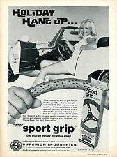 1970 Superior Ind. 500 Sport Grip Steering Wheel Cover Sexy Girl Print Ad