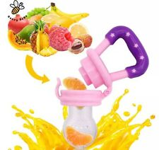 2 Pack Baby Teether Soother Unique Baby & Toddler Food Pacifier Feeder Fruits +
