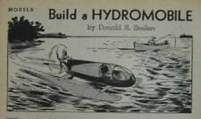 Tether Car/Boat/Ice Racer Prop drive Hydromobile 1942 How-To build PLANS vintage