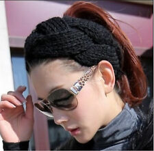The head band in winter Soft Hairband Crochet Hair Band Knit Wide Headband