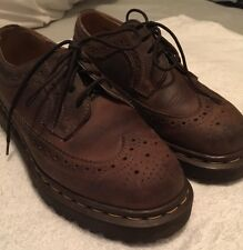 Dr Doc Martens 3989 Wingtip Oxfords Size 4 Brown Made in England EUC