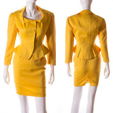 Thierry Mugler Vintage 80s Yellow Skirt Suit