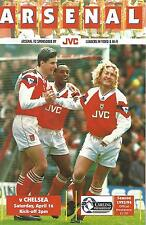 Arsenal v Chelsea - Premiership - 16/4/1994 - Football Programme