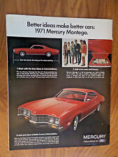 1971 Mercury Montego Ad  Better Ideas Better Cars