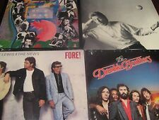 HUEY LEWIS & THE NEWS - DOOBIE BROTHERS & THE CARS ORIGINAL 1980'S RELEASES 4LPS