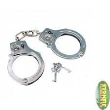 COPS & ROBBERS CONVICT PRISONER HANDCUFFS WITH KEY METAL - fancy dress accessory
