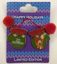 Disney Pin Happy Holidays 2015 Disney's Fort Wilderness Resort Bambi Mittens Pin