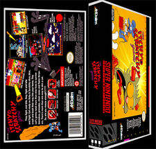 Itchy and Scratchy Game - SNES Reproduction Art Case/Box No Game.