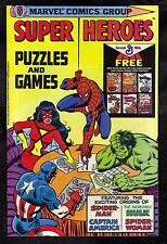 AMAZING SPIDERMAN SUPER HEROES PUZZLES AND GAMES / VF  (GIVEAWAY)  1979 MARVEL