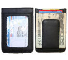 Men's Leather Wallet Credit Card ID Holder Money Clip front pocket mens wallet