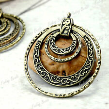 3* Round antique Bronze vintage DIY Pendants TS4259-4
