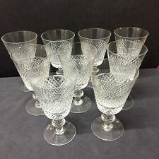 9 verres à eau Mod.STATE taille diamant  H: 147 mm  VAL SAINT LAMBERT