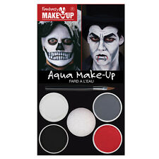 DRACULA SKULL AQUA MAKE UP KIT HALLOWEEN PARTY FACE PAINT DAY OF THE DEAD