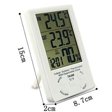 LCD Digital Indoor Outdoor Hygrometer Humidity Thermometer Temperature Meter UK