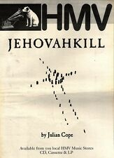 "24/10/92PGN51 JULIAN COPE : JEHOVAHKILL ALBUM ADVERT 15X11"" HMV"