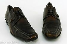 Schnürer Görtz Shoes Halbschuhe Business Echtleder braun antik Finish Gr. 44