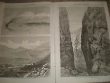 British expedition Abyssinia Annesley Bay Weah Tekinda pass 1867 old prints