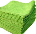 6 LIME MICROFIBER TOWELS NEW CLEANING CLOTHS BULK 16X16 MANUFACTURERS SALE