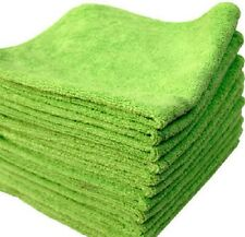 24 LIME MICROFIBER TOWELS NEW CLEANING CLOTHS BULK 16X16 MANUFACTURERS SALE