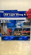 NEW  Prime indoor/outdoor remote controlled LED light string Kit 25 ft
