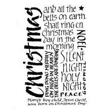 Crafty Individuals CHRISTMAS CALLIGRAPHY Unmounted Red Rubber Stamps