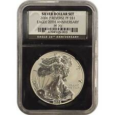 2006-P Reverse Proof Silver Eagle 20th Anniversary Set NGC PF70 ( Black Core )