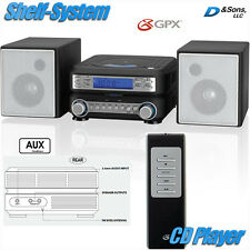 NEW GPX AM/FM Radio CD Player Portable Stereo Shelf System with Aux-input