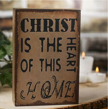 """""""Christ is the Heart of This Home"""" Rustic Wooden Sign 6"""" x 4"""" x 1.5"""""""