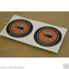 COMPASS - (RESIN DOMED) - Caravan Wheelcap Badge Stickers Decals Graphics - PAIR