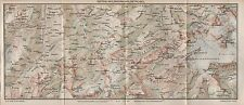 1923 ANTIQUE MAP-SWITZERLAND-GSTEIG-WILDHORN-WILDSTRUBEL