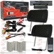 """SPL SHD-92CCP REPLACEMENT HEADREST PACKAGE W/ DVD PLAYER & 9"""" LCD MONITOR"""