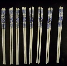 China blue and white porcelain bird design Chopsticks - eight pairs